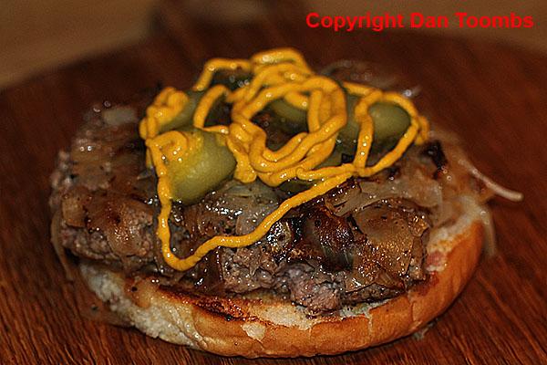Making an Oklahoma Onion Burger