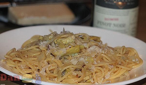 Spaghetti With Lardo & Artichokes