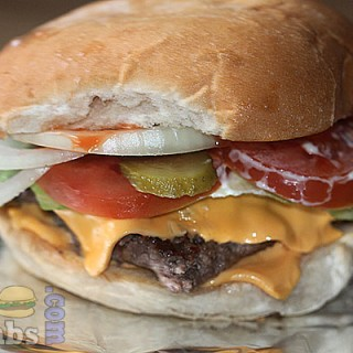Homemade burger by Food Blogger Dan Toombs