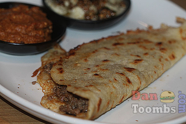 Dosa with minced lamb