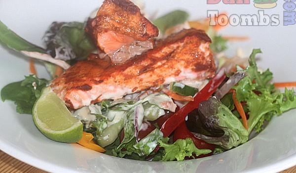 Oven Roasted Tandoori Salmon Salad