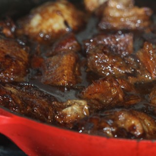 Pork belly and chicken adobo.