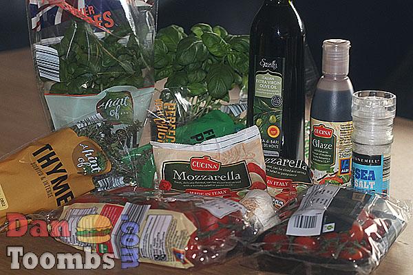 Ingredients for salad caprese