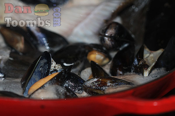 Steaming mussels for the Stew