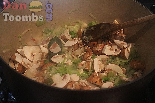 Making fish stew