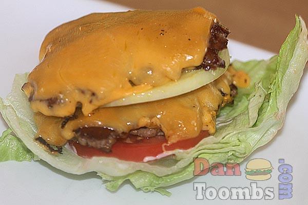 Making lettuce wrap burger