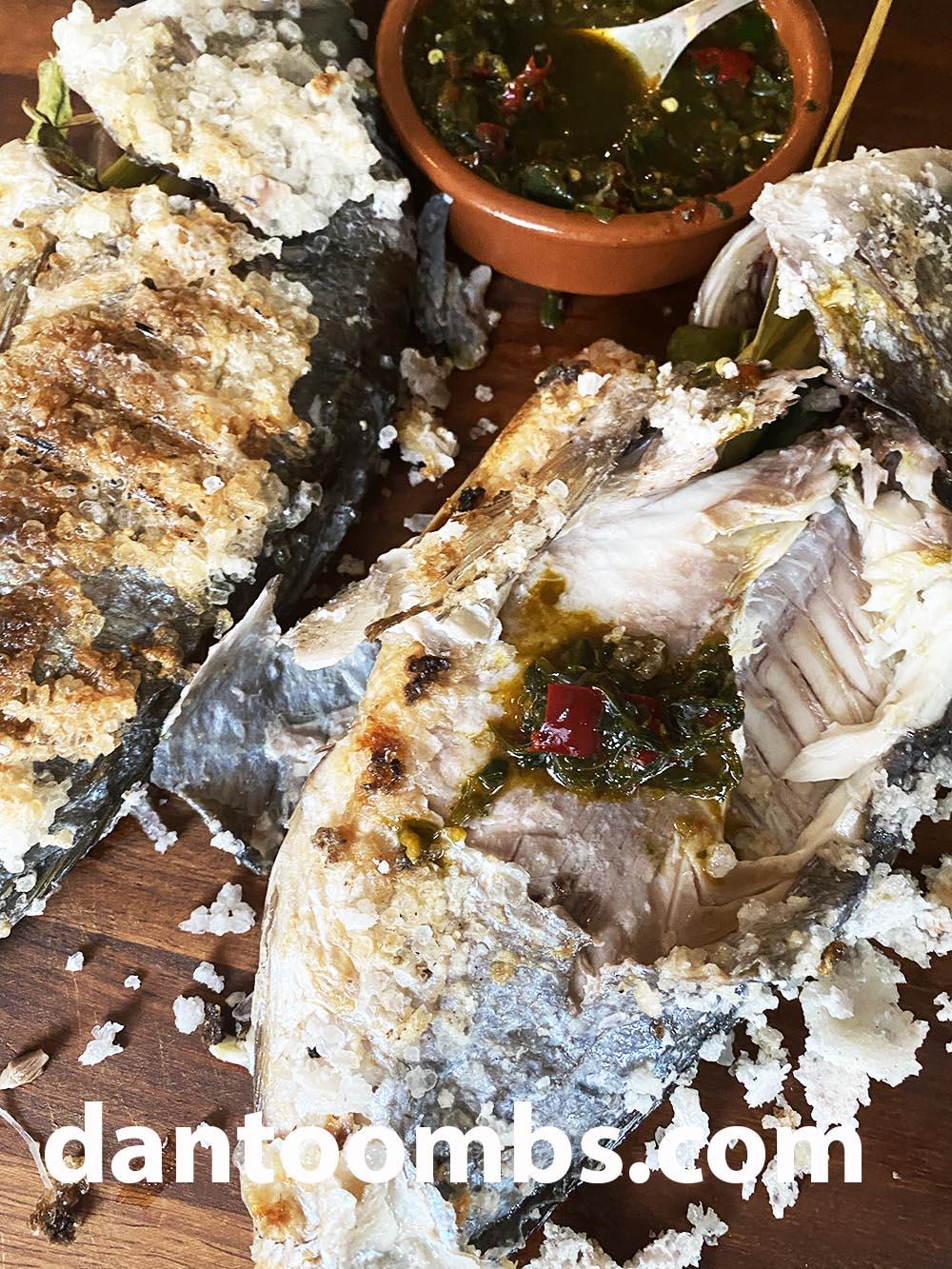 Thai salt crusted fish