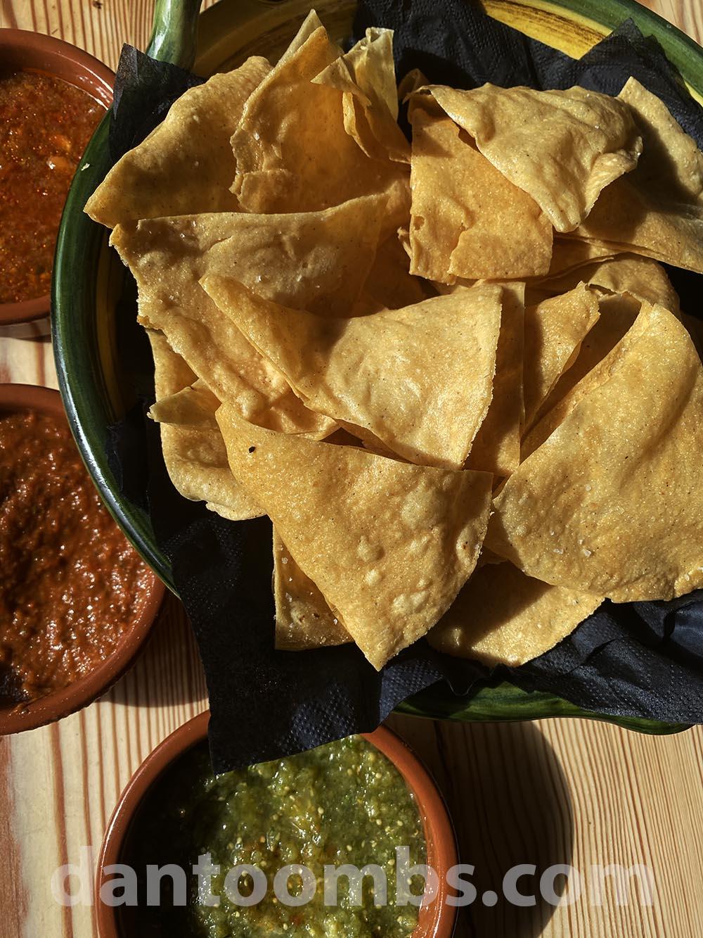 Fnished corn chips